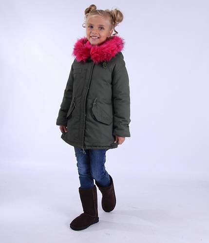 "Зимняя куртка-""парка"" зимняя для девочки 3QR, China"