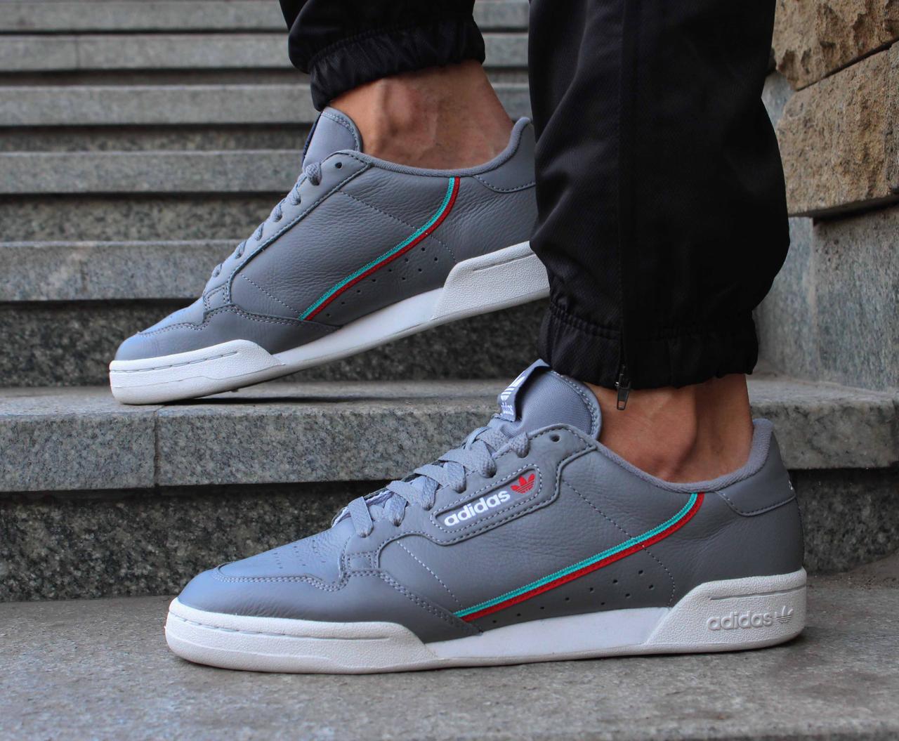 Оригинальные кожаные серые кроссовки adidas Originals Continental 80 B41671
