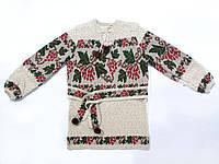 Вязанка для девочки Калина зеленые листики | В'язанка для дівчинки Калина зеленые листики