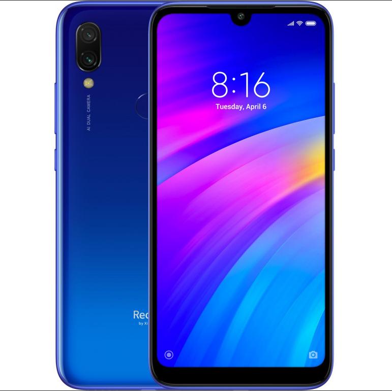 "Телефон Xiaomi Redmi 7 Global 3/64Gb Blue 6.26"" (1520x720) / Snapdragon 632 / 12Мп / 4000мАч /"