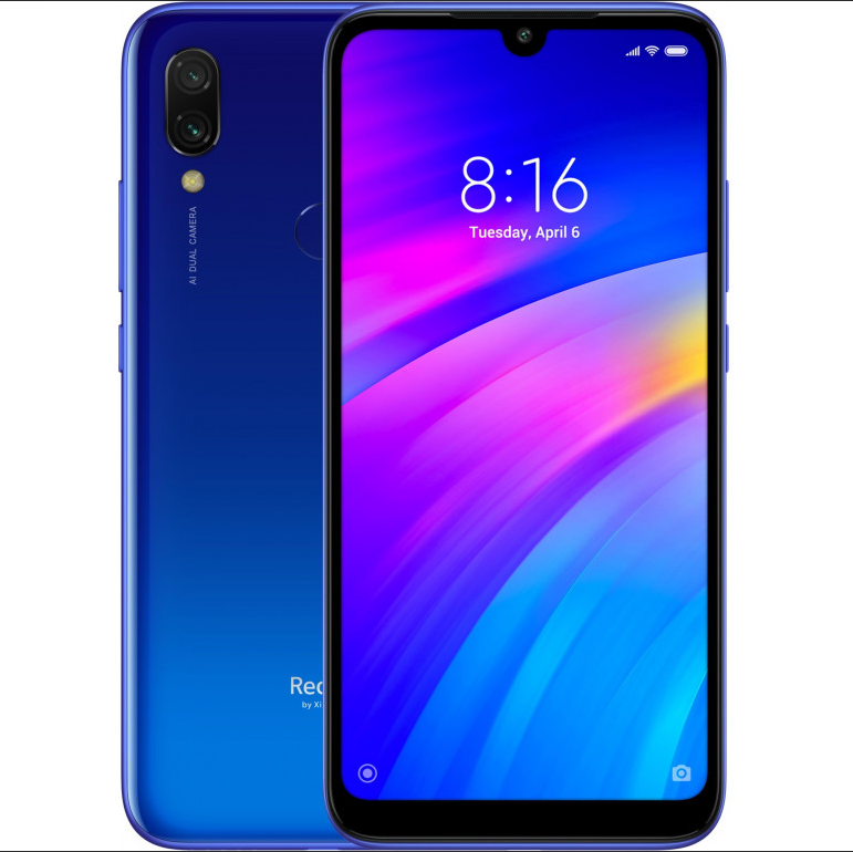 "Xiaomi Redmi 7 Global 3/64Gb Blue 6.26"" (1520x720) / Snapdragon 632 / 12Мп / 4000мАч /"