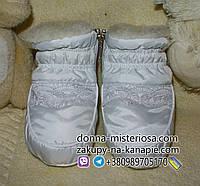 Пінетки-сапожки на овчині, 12-15 см., 10 кольорів з мережевом, фото 1