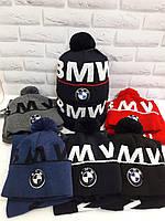 Коплект для подростка шапка и баф (хомут) BMW