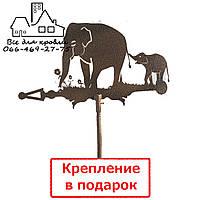 Флюгер на крышу Слон и слонёнок