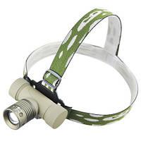 Налобный фонарик диодныйPolice BL- 6855 (Аккумулятор, зарядка, упаковка) на голову или каску 6866