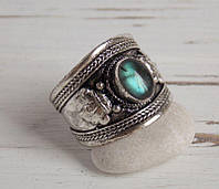 Перстень  с лабрадором(№8) ручной работы. Кольцо с лабрадором