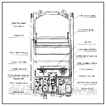 Газовая колонка проточная Rocterm ВПГ-10 АЕ Дымоход, автомат (батарейки), фото 2