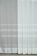 Тюль гардина занавеска молочная полоска шифон 280 х 300, фото 1