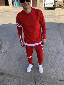 Мужской красный спортивный костюм