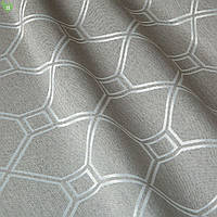 Декоративная ткань в ромбик серая жаккард 83288v1