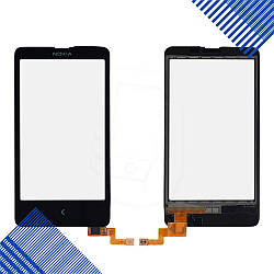 Тачскрин Nokia X, цвет черный, на 2 sim карты