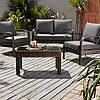 Садовая мебель, Jakarta Conversation Sofa Set in Charcoal - 4 Piece