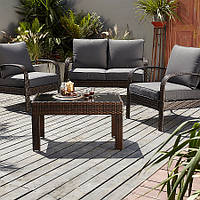 Садовая мебель, Jakarta Conversation Sofa Set in Charcoal - 4 Piece, фото 1
