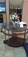 Прозрачная скатерть с бахрамой, защита для стола. Силиконовая пленка.