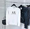 Женский демисезонный свитшот белый в стиле Armani