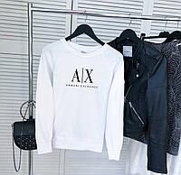 Женский демисезонный свитшот белый в стиле Armani, фото 1