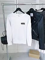 Женский демисезонный свитшот белый в стиле Vans