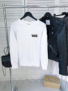 Жіночий демісезонний світшот білий в стилі Vans