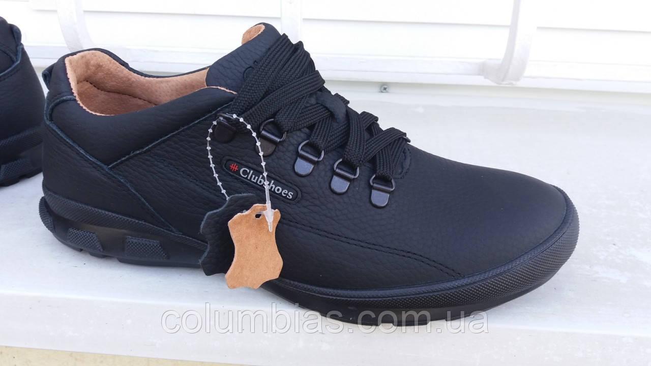 Осінні польські чоловічі кросівки, туфлі темно-сірі
