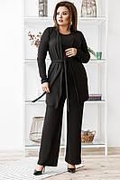 Комфортный костюм тройка из качественной ангоры Arctic, №149, чёрный