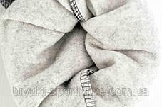 Брюки женские спортивные с начесом в меланжевом цвете 6 XL ( Польша ), фото 3
