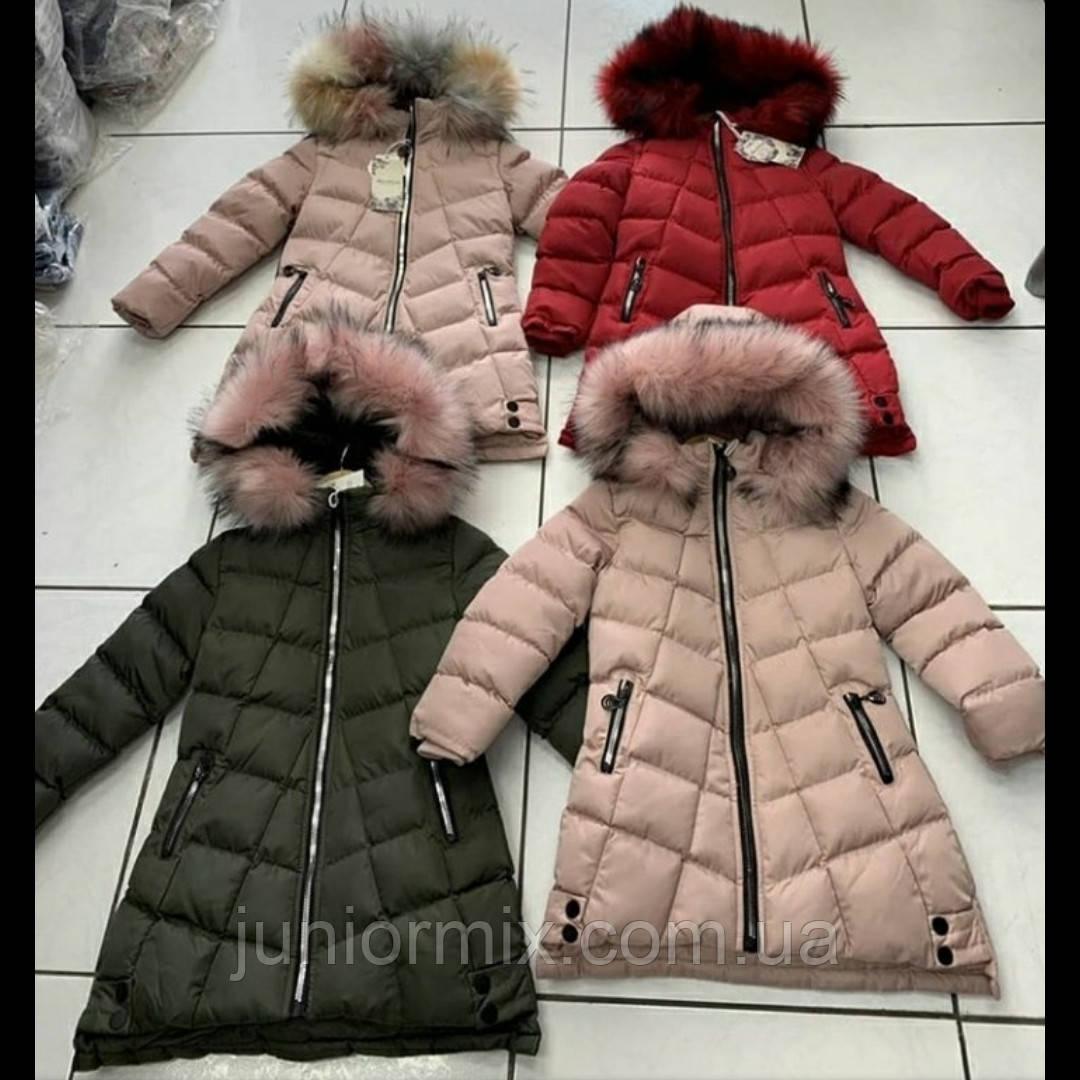 Зимние теплые модные детские куртки для девочек оптом