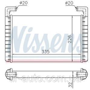 Радиатор печки RVI MAGNUM ( NISSENS ) 73371