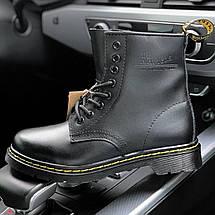 Мужские и женские ботинки Dr. Martens 1460 Black, демисезон - без меха, фото 2