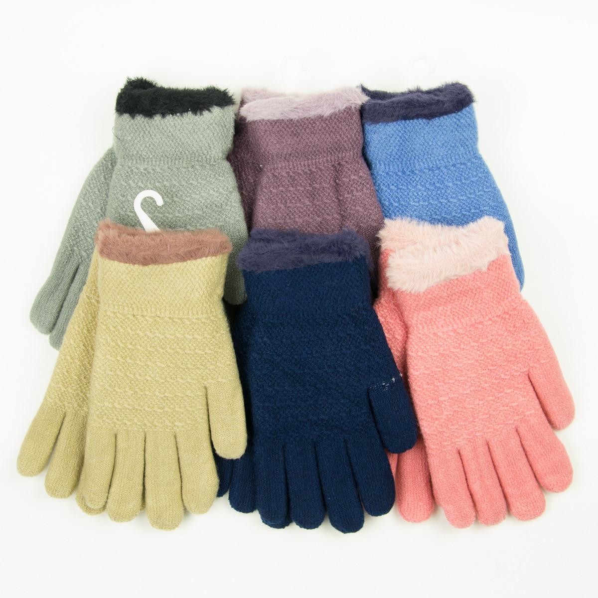 Оптом двойные перчатки для подростков на 12-16 лет - 19-7-58