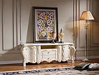 Тумба ТВ белая , матовая ,в стиле бароко ,мод Элиза