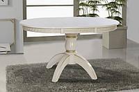 Стол обеденный Престиж (белый+патина)