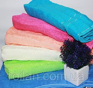 Лицевые однотонные турецкие полотенца