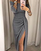 Женское нарядное платье с люрексом