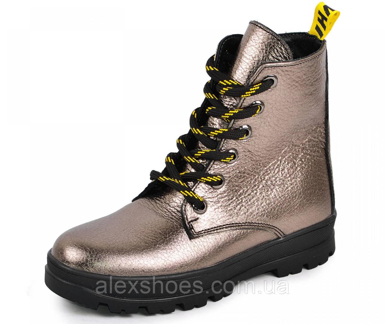 Ботинки подростковые для девочки из натуральной кожи от производителя модель МАК1575