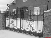 Ворота кованные распашные открытого типа, фото 1