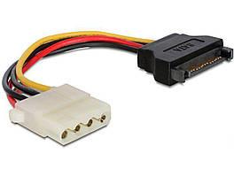 Кабель (шлейф) Cablexpert (Molex) F + SATA, 150 мм
