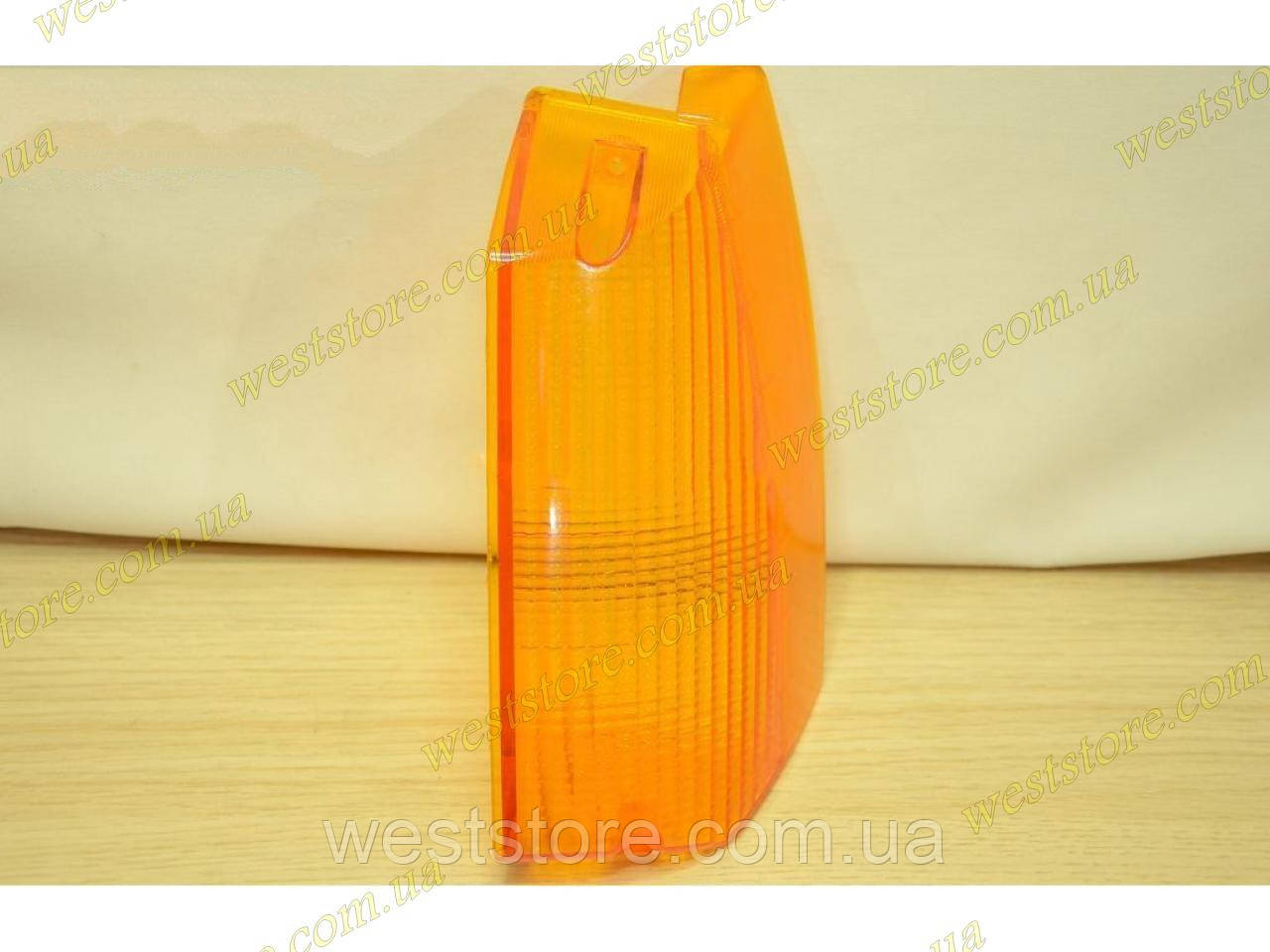 Рассеиватель поворотника (стекло) переднего Заз 1102,1103,1105 Таврия Славута левый желтый