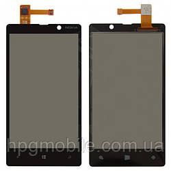 Сенсорный экран для Nokia Lumia 820, черный, оригинал