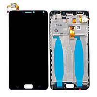 Дисплей (экран) для телефона Asus Zenfone 4 Max ZC554KL, 4 Max Pro, 4 Max Plus + Touchscreen with frame (copy) Black
