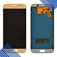 Дисплей для Samsung J530F/DS Galaxy J5 (2017) с тачскрином в сборе, цвет золотой, TFT c регулировкой яркости
