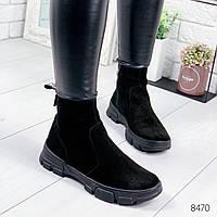 Ботинки женские Ornella черные , женская обувь