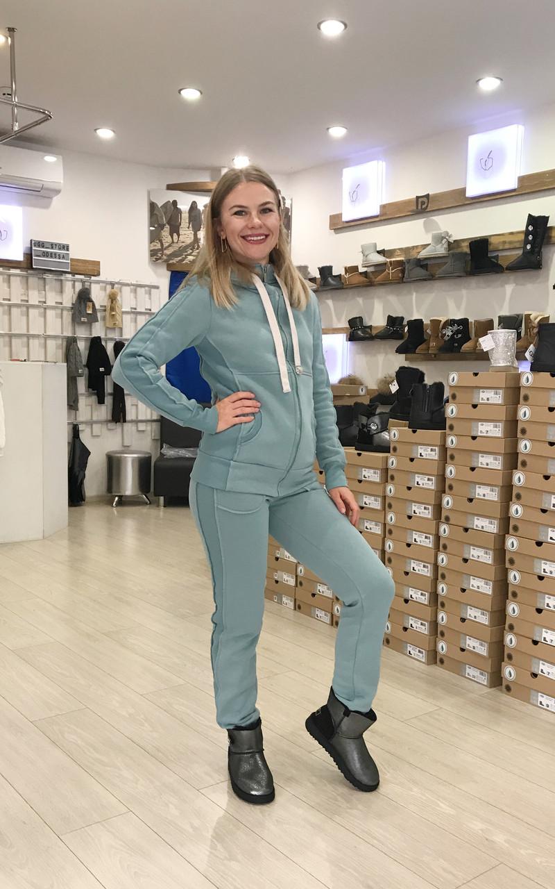 Ментоловый теплый женский костюм от Угг UGG Australia Zip Merino Mentol
