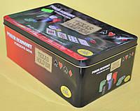 Покер набір в жестяній коробці-200 IG-1104215 TEXAS HOLD'EM