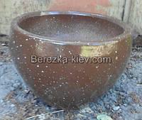Горшок из шамота керамика (форма круг, цвет шоколад)