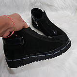 Женские демисезонные замшевые ботинки, фото 6