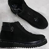 Женские демисезонные замшевые ботинки, фото 4