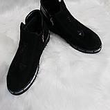 Женские демисезонные замшевые ботинки, фото 3