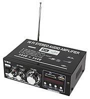 Усилитель звука 600W  UKC AK-699D с встроенным радио FM, MP3, USB,  2x300W