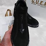 Женские демисезонные замшевые ботинки, фото 2