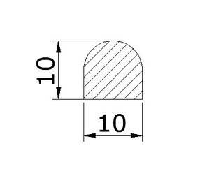 Порог акриловый OF 10х10 мм, фото 2
